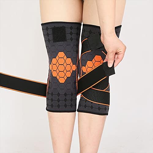 QINX Rodillera deportiva con impresión elástica, apoyo para fitness, engranajes de baloncesto, voleibol, abrazadera de rodilla, XL