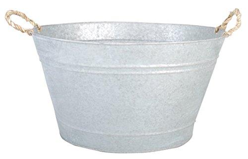 Esschert Design Altzink badkuip, zink, 47,5 x 38,4 x 26,2 cm, OZ14