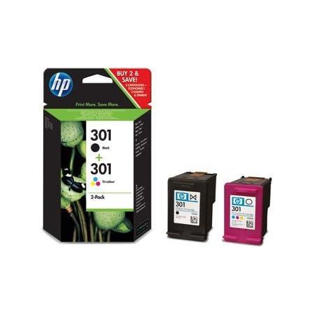 1x Hp 301 Black And 1x Hp 301 Tri Colour Original Ink Cartridge Combo Content Pack Bundle Bürobedarf Schreibwaren