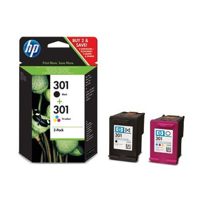 1x HP 301 Schwarz und 1x HP 301 dreifarbig Original Tintenpatrone Combo Content Pack Bundle