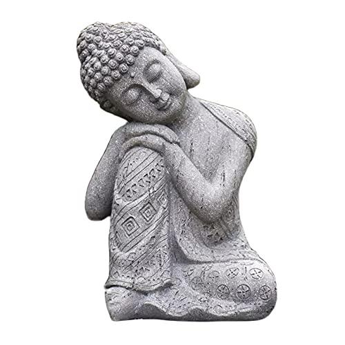 MagiDeal Buddha Figur Garten, H 25cm, Buddha Deko, Gartendeko Figuren, Outdoor, Garten Dekofigur, Zen Buddha Statue, Glück Bringen und Gunst