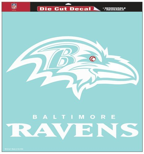 NFL Baltimore Ravens 18-by-18-Inch Diecut  Decal