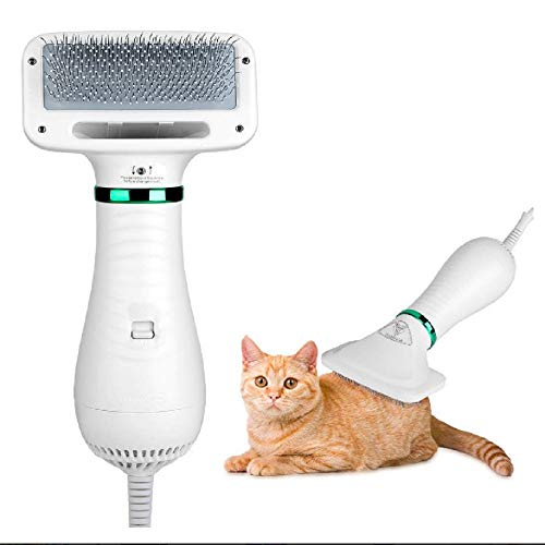 Pet Hair Dryer, Pet Hair Dryer Comb,Pet Grooming Hair Dryer with Comb, Adjustable Temperature and Low Noise, 2 in 1 Portable Home Pet Care for Dogs and Cats