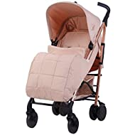 Stylish ultra-modern stroller, stunning complimentary colour handles, height adjustable handles Lightweight & strong aluminium chassis, easy fold technology, lockable front swivel wheels, side carry handle, compact fold Extendable 3 position canopy, ...