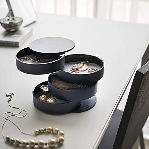 YYANG Petites Boîtes De Rangement en Plastique Organisateurs D'étagère Organisateur Maquillage Porte-Pinceau Maquillage Organisateur Maquillage De Stockage,Black