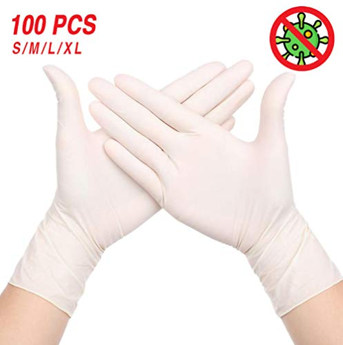 Wegwerphandschoenen, universeel, keuken/vaatwasser/veilig/werk/rubber/tuinhandschoenen, 4 kleuren, antistatische handschoenen, 4,5 g/stk-100 stuks