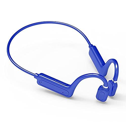 骨伝導イヤホン bluetooth 防水 Bluetooth5.1 ワイヤレス イヤホン スポーツ仕様 イヤホン 5時間連続再生 ブルートゥース イヤホン 自動ペアリング 超軽量 耳掛け式 両耳通話 母の日 父の日のプレゼント ブルー