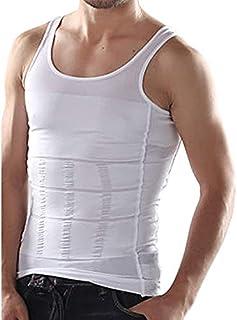 Pro Action Slimming Body Shaper Vest Abdomen Slim Shirt Compression Tank Corset Shaper Underwear Shapewear White