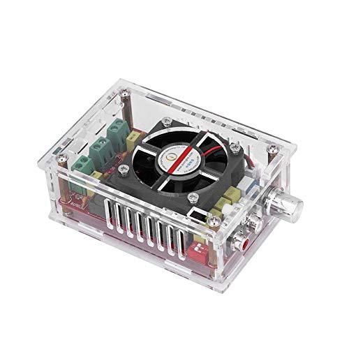 Tablero Amplificador de Potencia Digital, 2 * 100W DC9-34V Tablero Amplificador de Audio de Alta Potencia Módulo de Clase D con Carcasa/Ventilador Incorporado