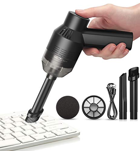 [Upgrade] HONKYOB Mini Vacuum Cordless Vacuum Keyboard Cleaner Rechargeable Desk Vacuum for Cleaning Dust,Hair,Crumbs,Eraser Scrap,Cigarette Ash,Laptop,Car,Pet House with Keyboard Puller