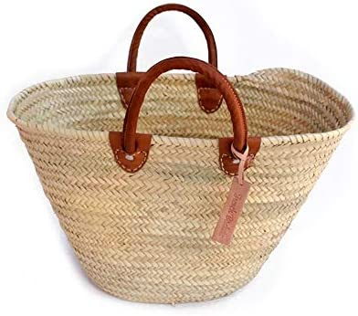 Classic Straw Market Basket French Baskets product image