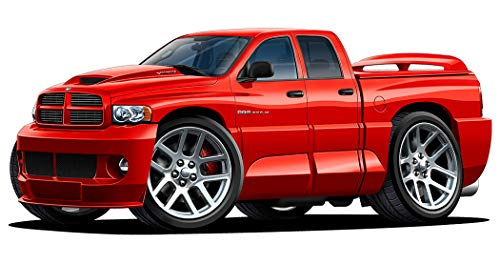 Dodge Ram SRT-10 Viper Truck 4 Door Wall Decal Sport Car Graphic Sticker Man Cave Garage Boys Room Decor (2Ft Long)