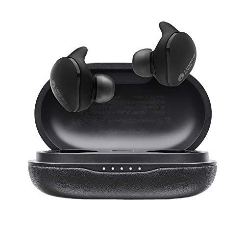 Cambridge Audio Écouteurs sans Fil Melomania Touch - Batterie avec 50 h d'Autonomie, Écouteurs Bluetooth 5.0 avec Micro Intégré, Étanches, Son Limpide, Pilotes en Graphène de 7 mm (Noir)