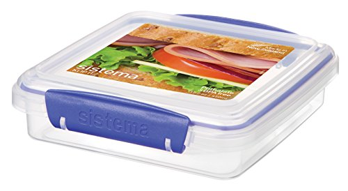 Sistema Sandwichbox,Blau (Transparent),450 ml