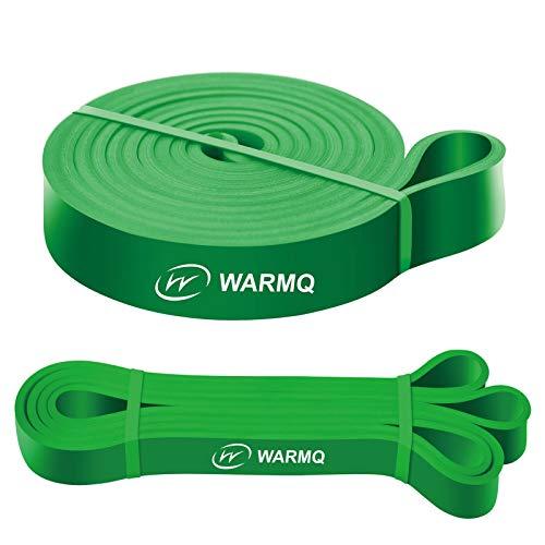 WARMQ Fitnessbänder Widerstandsbänder einzelner Klimmzugband für Muskelaufbau Yoga und Gymnastik Pull Up Trainingsband mit höher Elastizität ideal alsUnterstützung grün 50-125lbs