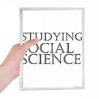 社会学を勉強している短いフレーズ 硬質プラスチックルーズリーフノートノート
