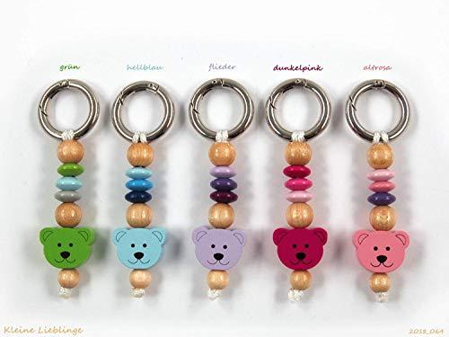 Schlüsselanhänger - mit Namen möglich - Kinder - Erwachsene - Taschenbaumler - Bär Teddy - Schlüsselring - verschiedene Farben