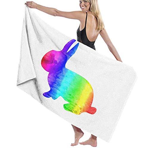 Funny Z Conejito de Pascua Orgullo Gay Bandera LGBT Temática Personalidad Toalla de baño Manta de Playa de Secado rápido Toallas 130x80cm