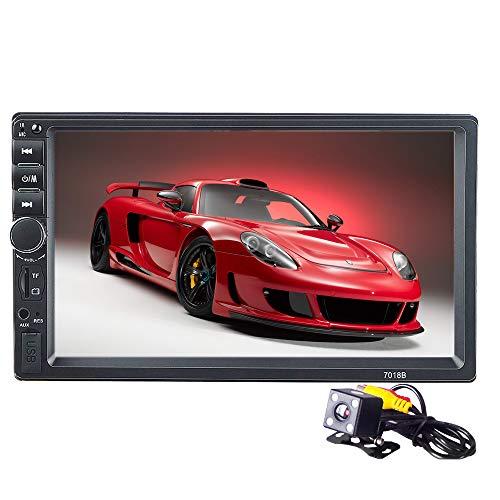 PolarLander Autoradio 2 Din Voiture 7 Pouces LCD Écran Tactile Autoradio Lecteur Bluetooth Voiture Audio Support Arrière Caméra