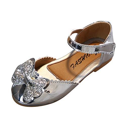 Cuteelf Prinzessin Gelee Partei Absatz-Schuhe Sandalette Stöckelschuhe für Kinder Kind Kleinkind Kinder Baby Mädchen Bling Bowknot Prinzessin Party Sandalen Tanzschuhe
