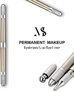 Mis Toujours Manual Eyebrow Tattoo Machine 3d Pen For Permanent Makeup Tebori Tattoo For Lip Eyeliner Microblading Eyebrows Champagne