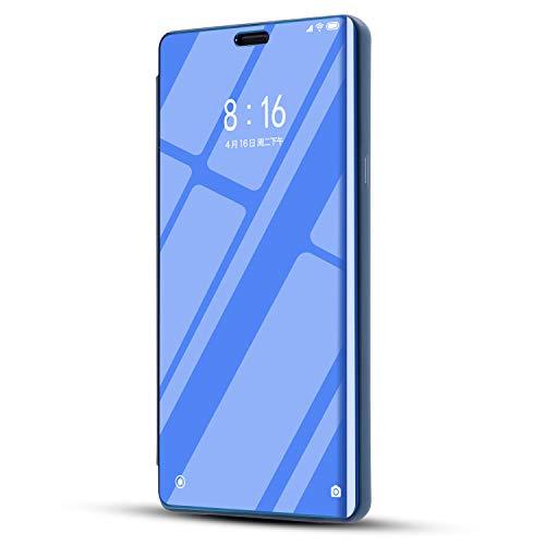 niter - Funda ultrafina para iPhone 7 Plus/8 Plus, con efecto espejo, de piel sintética, con tapa, apertura vertical, transparente