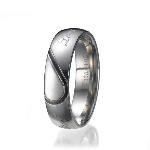 ND Outlet - Titanium Rings FASHIONRING - Fede nuziale, con Diamante, titanio, misura 63 (20.1)