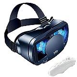 Rrunzfon VR Casco de Realidad Virtual 3D Glasses Teléfono VR Lentes Suave cómodo de Distancia Ajusta...