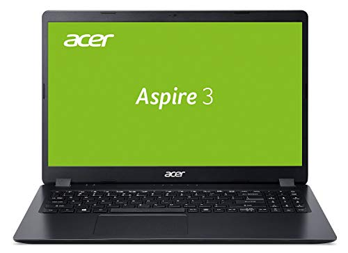 Acer Aspire 3 (A315-54-53AC) 39,6 cm (15,6 Zoll Full-HD matt) Multimedia Laptop (Intel Core i5-10210U, 8 GB RAM, 256 GB PCIe SSD, Intel UHD, Win 10 Home) schwarz
