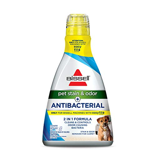 Bissell Pet Stain & Odor Plus Antibacterial 2 in 1 Carpet Formula, 40 Fl Oz