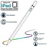 Viflykoo Lápiz para Pantalla Táctil,Stylus Pen para iPad 2018 y 2019 lápiz Digital Activo Recargable USB con Punta Fina de 1.2 mm,se Puede Utilizar Escribir y Dibujar iPad Pro 11/12.9/Air3-Blanco