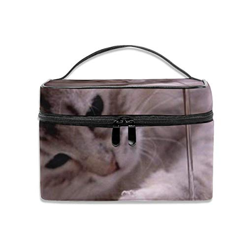 New Lovely Cute Cat Kitten Paw Adorable Playing Water Travel Makeup Case Cosmetic Case Organizer Portable