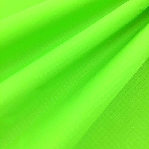 EMMAKITES Verde fluorescente 1.69Oz tejido de nylon ripstop 152x91cm Resistente a los rayos UV Resistente al agua y suave a la PU Recubrimiento Excelente tela para cometas Skydancers Inflatalbes Lonas cubiertas Proyectos creativos por patio