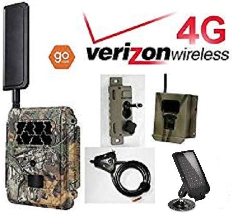 Spartan Verizon 4G LTE GoCam Deluxe Package 720P Wireless Trail Camera Blackout IR (Camera, Lock Box, Cable, Swivel Mount, Solar Panel)
