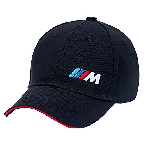 fit BMW M Baseball Hat Cap,Men and Women Adjustable Car Logo Cap,Loyal Team Fans Car Racing Motor Cap (Black M)