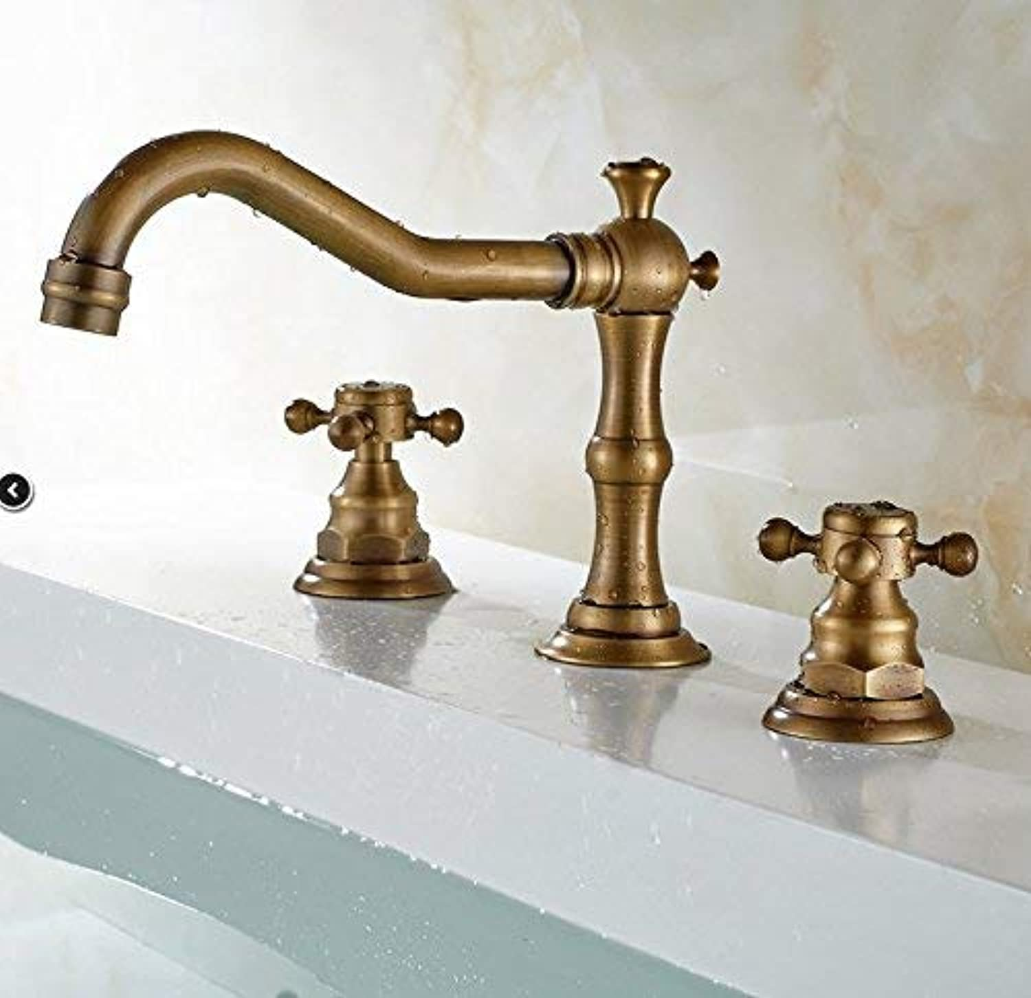 Oudan Mixer Water Tap copper European style Wash your face Hot and cold