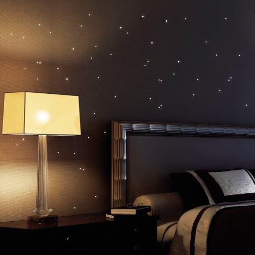 Autocollants muraux luminescents Motif étoiles Lot de 50 Pour un ciel étoilé dans le chambre d'enfant ou chambre à coucher