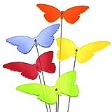 SUNPLAY Sonnenfänger 'Schmetterlinge Isabelle' im FARBMIX, 5 Stück zu je 20 cm Durchmesser im Set + 70 cm Schwingstäbe
