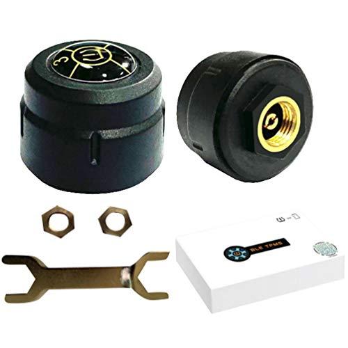 WINOMO Reifendruckkontrollsystem Motorrad TPMS Wireless Sensor Reifendruck Werkzeug Motorrad Externer Universeller Reifendetektionsmonitor Drahtloser Reifendruck Detektor