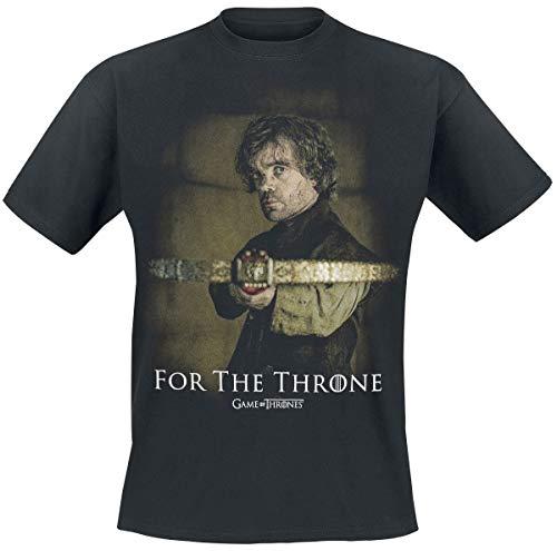 Juego de Tronos For The Throne Hombre Camiseta Negro XL, 100% algodón, Regular