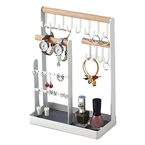 Espositore per gioielli, porta orecchini, collane, bracciali, anelli, gioielli