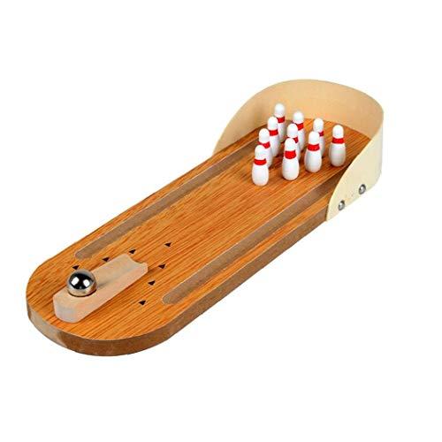 Mini-Bowling-Spiel Set Indoor Holz Bowling-Spiel Klassischen Tisch Bowling Toy Schreibtisch Brettspiele Für Kinder Und Erwachsene
