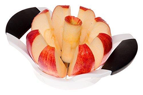 "Minel Heavy Duty Apple Slicer, Cutter, Wedger & Corer - Stainless Steel Blades 3.5"" Diameter, Dishwasher Safe"