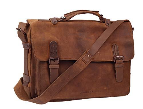 Harold's Antic Umhängetasche Natural 38x13x31cm Ledertasche Handtasche