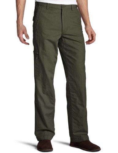 Dockers Men's Comfort Cargo D3 Classic-Fit Flat-Front Pant, Rifle Green, 34W x 32L