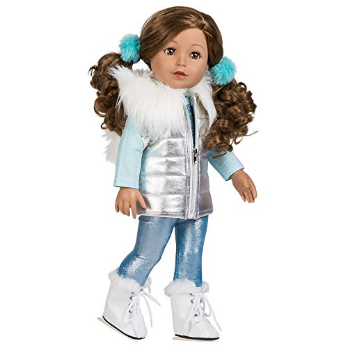 Adora Amazing Girls 18-inch Doll, Ice Skating Ava (Amazon Exclusive) Compatible With Most 18 Inch Doll Accessories And Clothing (218803)