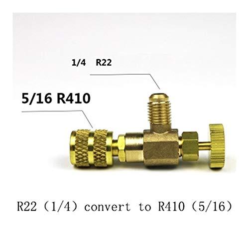 QWXZ Reparatur der Klimaanlage R22 / R410 Kälteladeadapter Stecker Flüssigkeitszugabe Zubehör Home Refrigeration Werkzeug for Sicherheitsventil-Service Rückschlagventil (Color : Red)