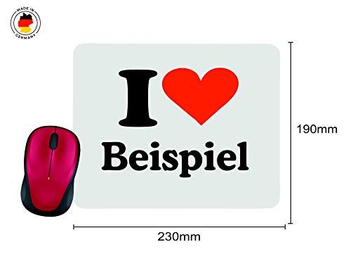 """Exklusive Geschenkidee: Mauspad """"I Love Celle"""" in Weiss, eine tolle Geschenkidee die von Herzen kommt- Rutschfestes Mousepad- Weihnachts Geschenktipp - 2"""