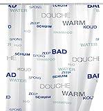 Wenko 19119100 Duschvorhang Water - wasserdicht, leicht zu pflegen, Kunststoff - Peva, Mehrfarbig