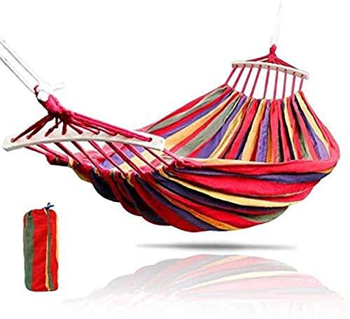 ZJDU Tragbar Leichte Hängematte Garten Hängende Stuhl Swing Lazy Chair CanvasoutDoor Reisen Wandern Camping Hängematte mit Kissen Outdoor Swing Chair U280x80cm (Color : I190x150cm)